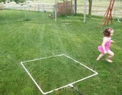 развлечение для детей с водой