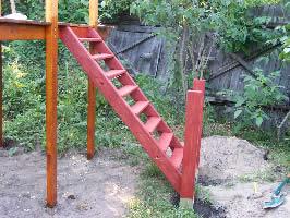 Детский игровой комплекс своими руками - лестница