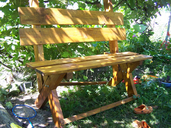 Садовая скамейка своими руками с фото